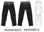 cargo pants vector template | Shutterstock .eps vector #446948971