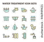 water treatment system and... | Shutterstock .eps vector #446949421