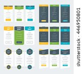 set of pricing table design... | Shutterstock .eps vector #446950801