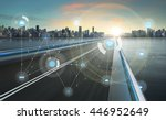 smart city and wireless... | Shutterstock . vector #446952649