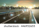 smart city and wireless... | Shutterstock . vector #446952655