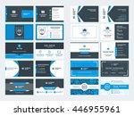 set of modern creative business ... | Shutterstock .eps vector #446955961