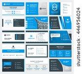 set of modern creative business ... | Shutterstock .eps vector #446956024