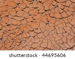 Mud Cracks On The Banks Of The...