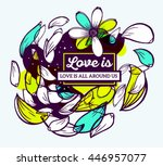 vector illustration of colorful ... | Shutterstock .eps vector #446957077