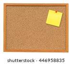 Yellow Blank Note On Cork Boar...