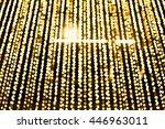 abstract golden bokeh light... | Shutterstock . vector #446963011
