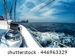 close up of the winch on the... | Shutterstock . vector #446963329