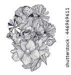 black and white ornamental... | Shutterstock .eps vector #446969611