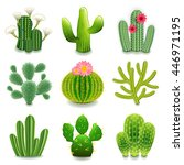 Cactus Icons Detailed Photo...