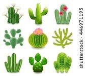 Cactus Icons Detailed Photo...