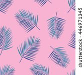 palm tropical leaves seamless...   Shutterstock . vector #446971345