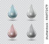transparent water drop set on...   Shutterstock .eps vector #446972479