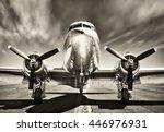 vintage airplane | Shutterstock . vector #446976931