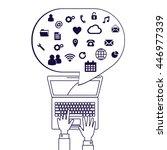 computer network vector...   Shutterstock .eps vector #446977339