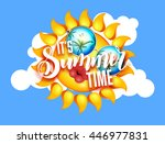 summer sun with sunglasses and... | Shutterstock .eps vector #446977831