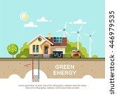 green energy an eco friendly... | Shutterstock .eps vector #446979535