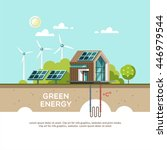 green energy an eco friendly... | Shutterstock .eps vector #446979544