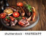 close up photo of mixed grilled ... | Shutterstock . vector #446980699