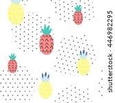 seamless summer pattern. vector ... | Shutterstock .eps vector #446982295