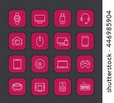 modern gadgets line icons ...