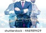 teamwork concept with... | Shutterstock . vector #446989429