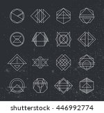 set of retro vintage hipster... | Shutterstock .eps vector #446992774