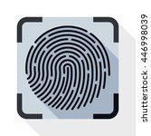 vector fingerprint scanning... | Shutterstock .eps vector #446998039