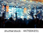 crowd in front of concert stage ... | Shutterstock . vector #447004351