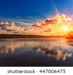 wonderful landscape. majestic... | Shutterstock . vector #447006475