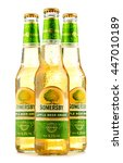 Small photo of POZNAN, POLAND - JUNE 24, 2016: Somersby cider is a brand of 4.5% abv cider produced by Danish brewing company Carlsberg Group. It is being sold in more than 46 countries.