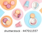 creative food still life with...   Shutterstock . vector #447011557