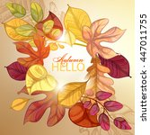 autumn background. vector eps... | Shutterstock .eps vector #447011755