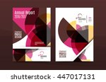 geometric mosaic design  a4... | Shutterstock .eps vector #447017131