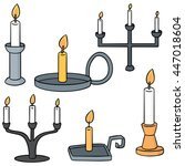 vector set of candle stick   Shutterstock .eps vector #447018604