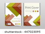 geometric brochure front page ... | Shutterstock . vector #447023095