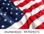 close up of american flag | Shutterstock . vector #447024271