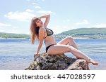Young Girl Posing In Bathing...