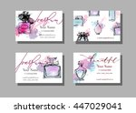 makeup artist business card.... | Shutterstock .eps vector #447029041