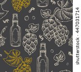 seamless black pattern with the ... | Shutterstock .eps vector #447031714