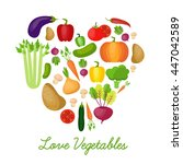 vegetable vector circle... | Shutterstock .eps vector #447042589