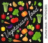 vegetable vector circle...   Shutterstock .eps vector #447042601