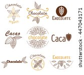 collection of cacao and... | Shutterstock .eps vector #447043171