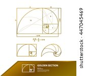 golden ratio vector | Shutterstock .eps vector #447045469