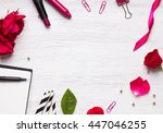 feminine stuff on white... | Shutterstock . vector #447046255