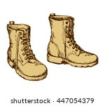 two rough old reliable forces... | Shutterstock .eps vector #447054379