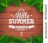 hello summer typographic... | Shutterstock . vector #447056455