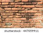 background of brick wall texture | Shutterstock . vector #447059911