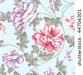 vivid repeating floral...   Shutterstock . vector #44706301