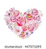 watercolor painting st of... | Shutterstock . vector #447071095